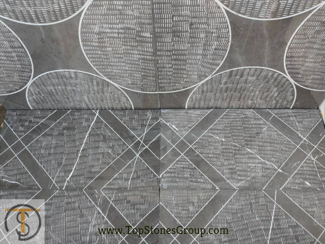 Pattern Hand Bush-hammered Pietra Grey Tiles