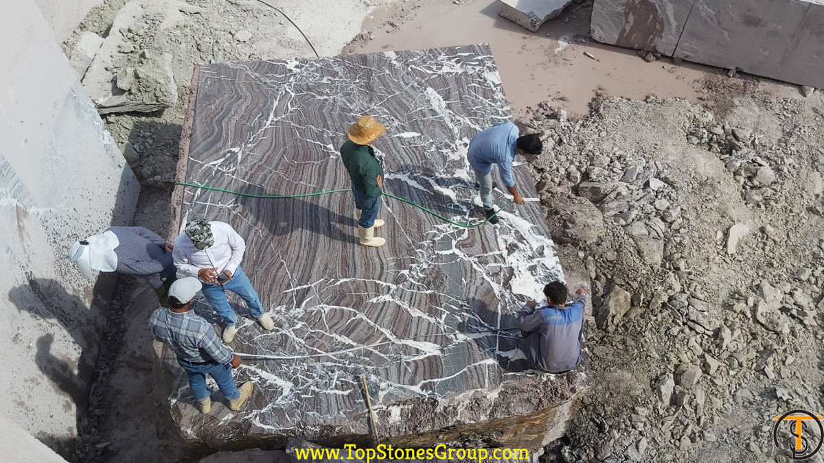 Very Large Block of Majestic Rose Marble